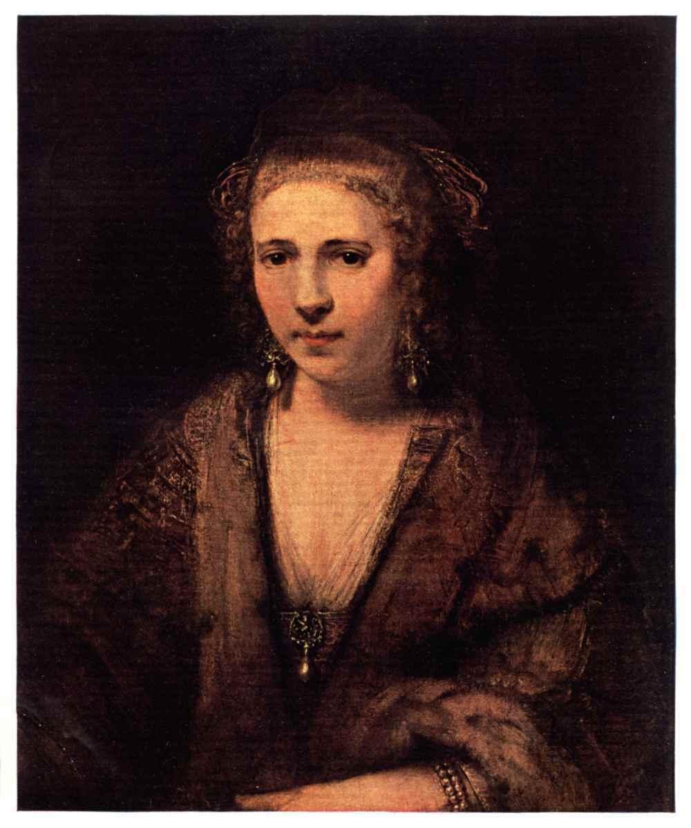 Plate Xxvi Rembrandt Portrait Of Hendrickje Stoffels Louvre