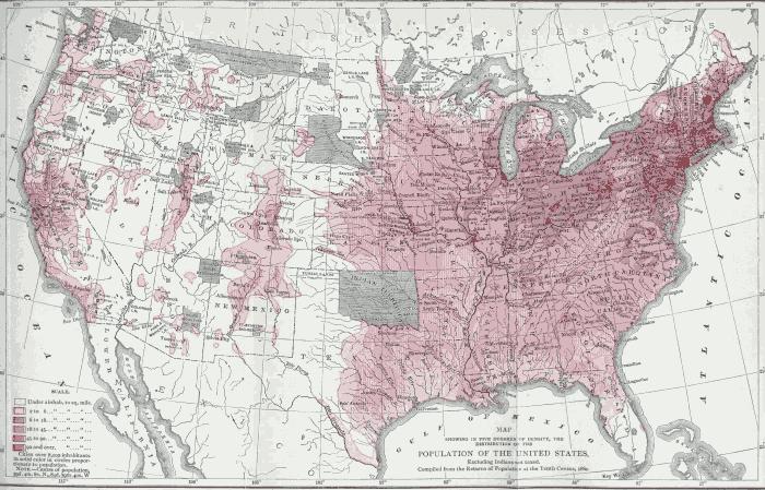 illustration population map of united states 1880 chart ii