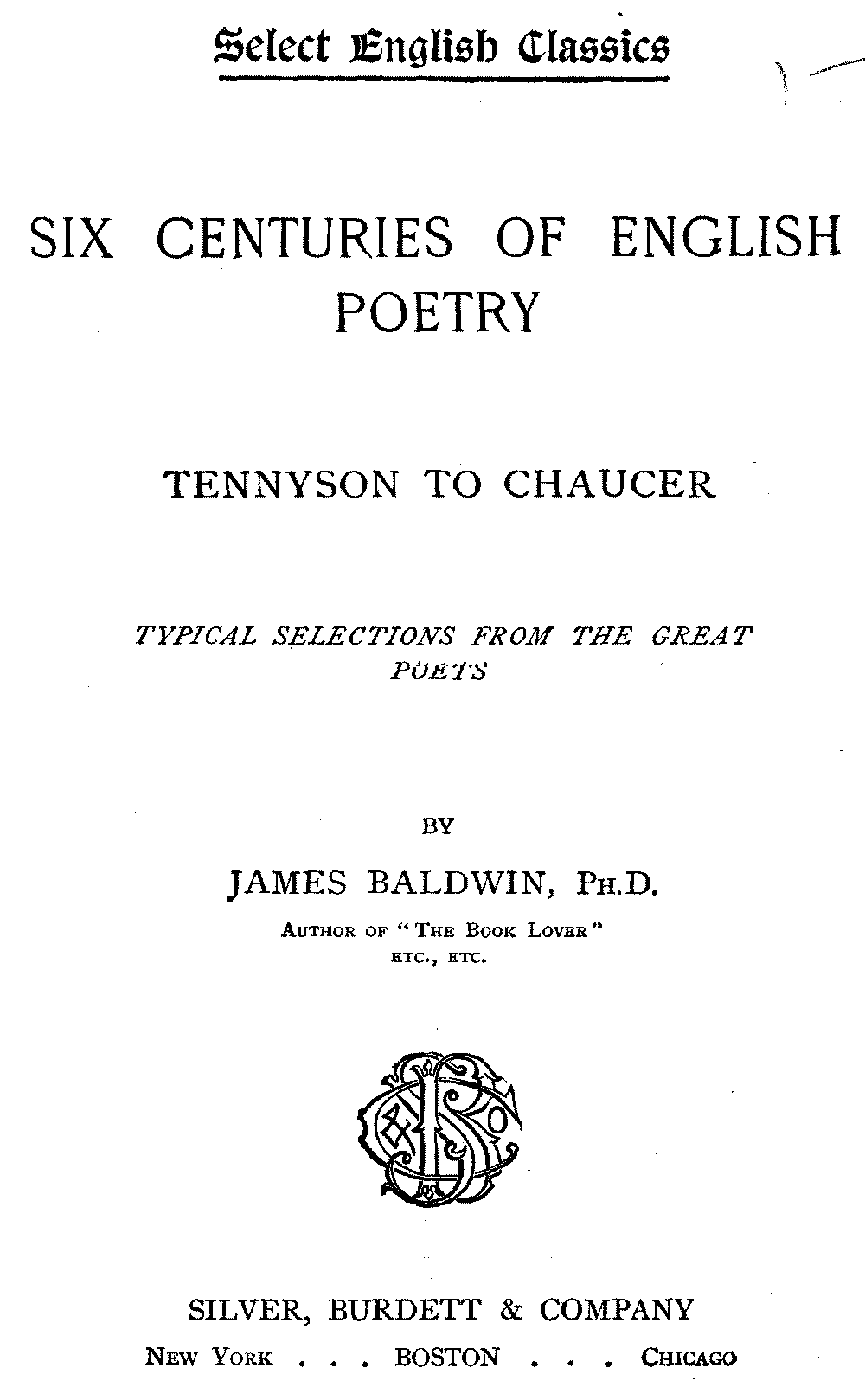 The project gutenberg ebook of six centuries of english poetry by select english classics fandeluxe Gallery