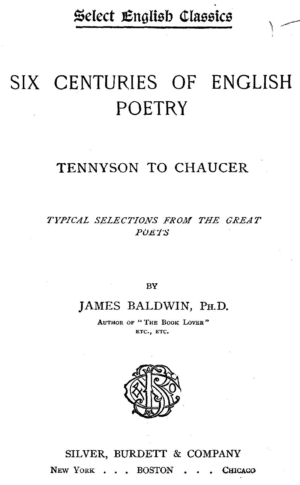 Select English Classics