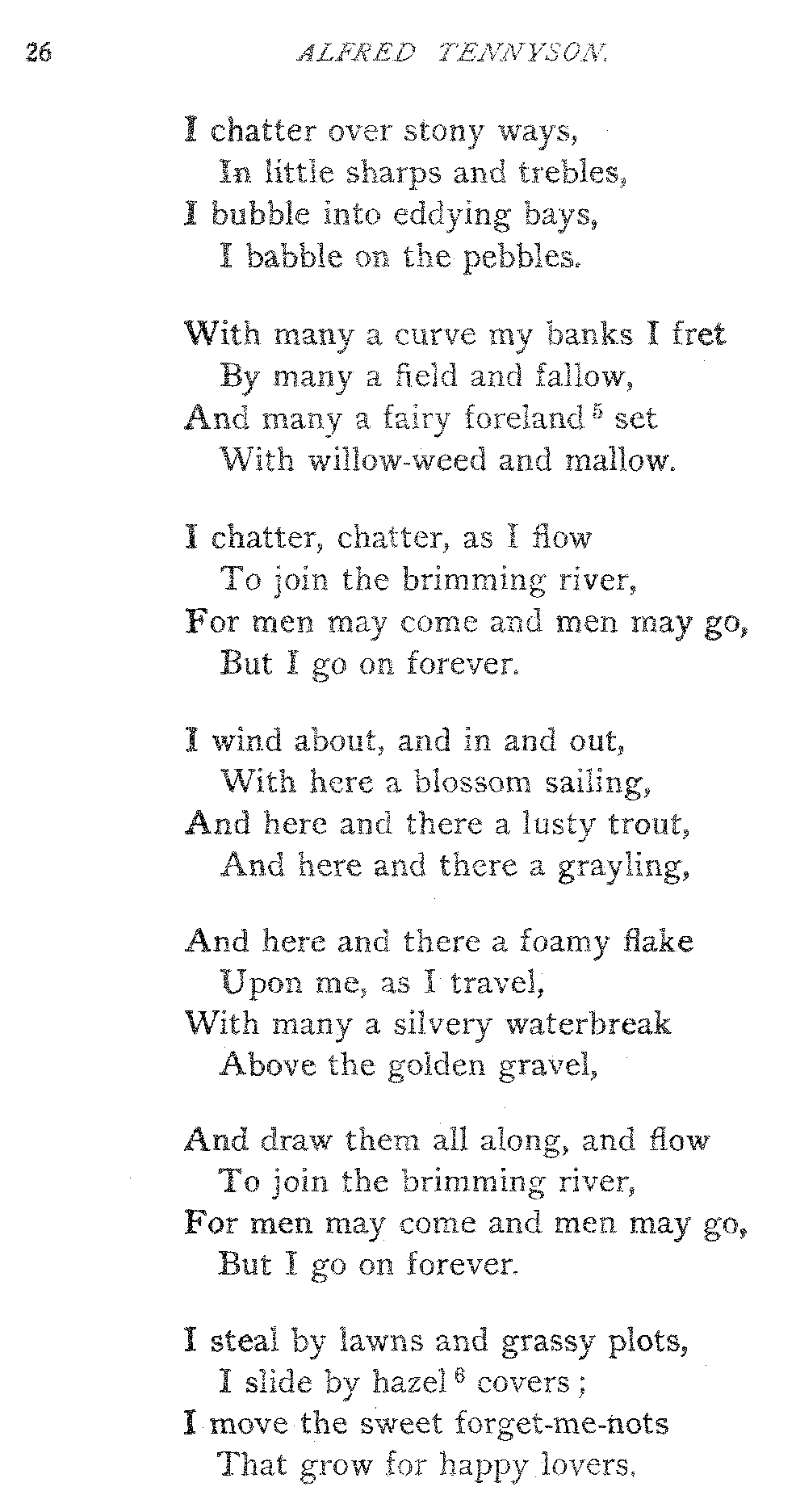 explanation of the poem the brook