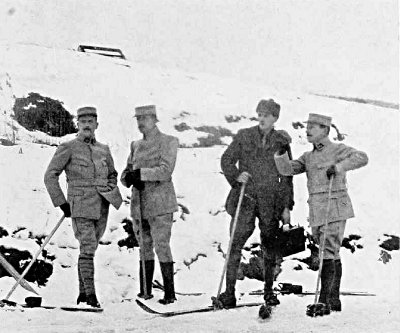 ON SKIS IN THE VOSGES MOUNTAINS JUST BEFORE THE FRENCH ATTACK, FEBRUARY AND MARCH, 1915