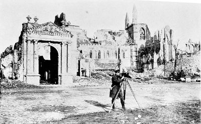 TAKING SCENES IN DEVASTATED YPRES, MAY, 1916