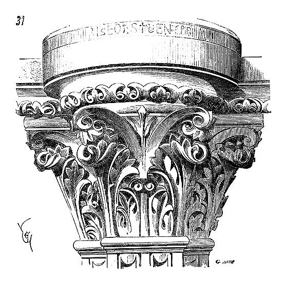 """1//2/"""" tige semi-Arc Double roman gothique Bordure fraise bois Ciseau"""