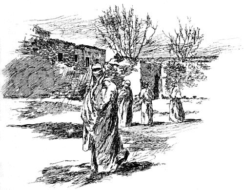 TURKISH WOMEN GOING TO PRAYERS IN KAISARIEH.