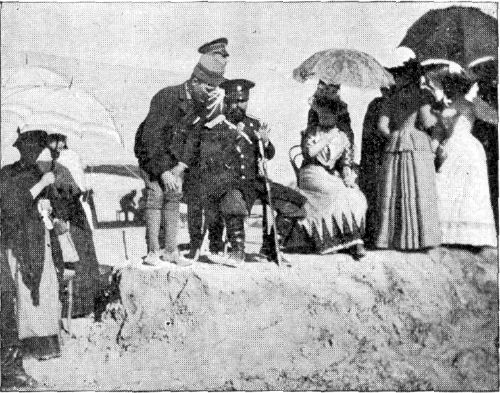 AN INTERVIEW WITH GENERAL KUROPATKINE AT THE RACES NEAR ASKABAD.