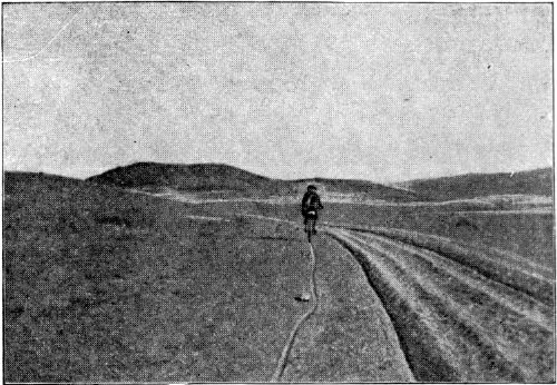 A TRAIL IN THE GOBI DESERT.