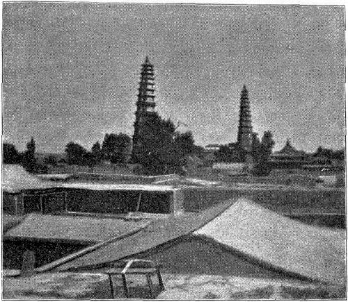 TWO PAGODAS AT LAN-CHOU-FOO.