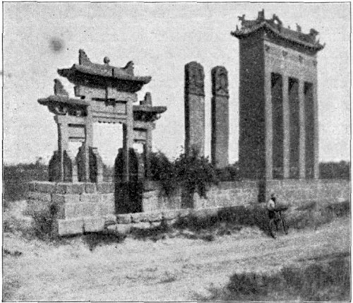 MONUMENTS NEAR ONE-SHE-CHIEN.