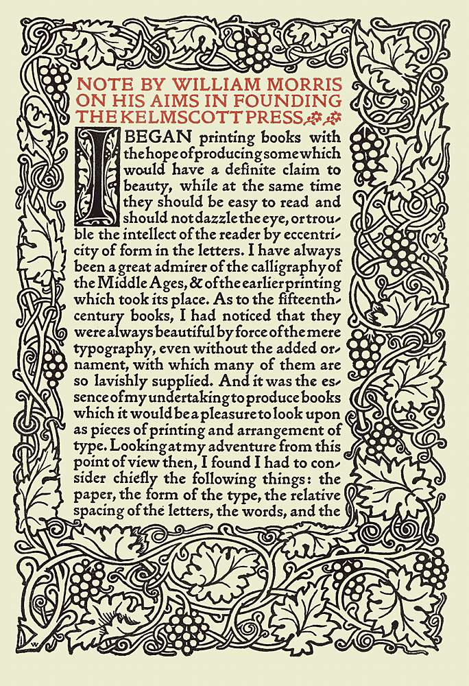 Business Law Essays Note By William Morris On His Aims In Founding The Kelmscott Press Narrative Essay Examples For High School also How To Write A Proposal Essay Example The Project Gutenberg Ebook Of The Art And Craft Of Printing By  Essay For English Language