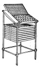 Fig. 19. Iron Case Stand with Galley Rest on side.