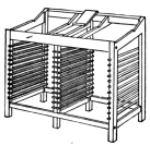 Fig. 20. Double Stand with Galley Rest between working cases.
