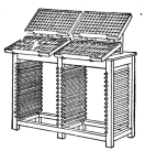 Fig. 23. Double Stand with working cases held on iron brackets.