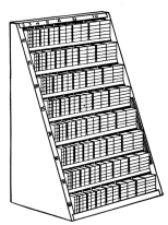 Fig. 35. Furniture Cabinet for labor-saving fonts of wood or metal furniture.