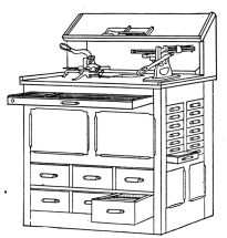 Fig. 38. Work Bench and Auxiliary Cabinet.
