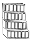 Fig. 41. Rack for leads, or brass rules in assorted standard lengths.