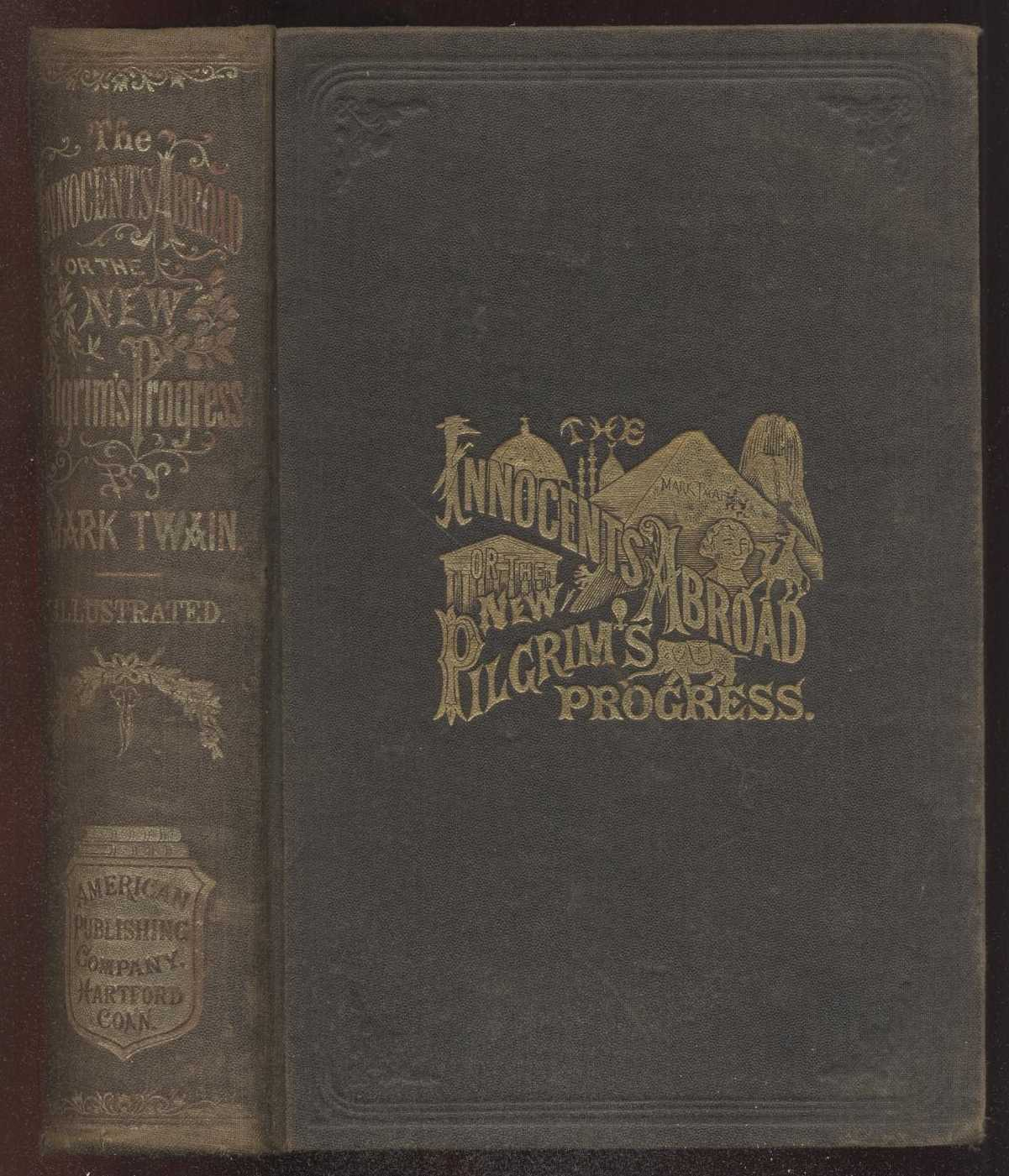 Old Book Cover Quote : Innocents abroad by mark twain complete