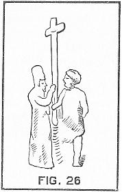 two men carrying a cross