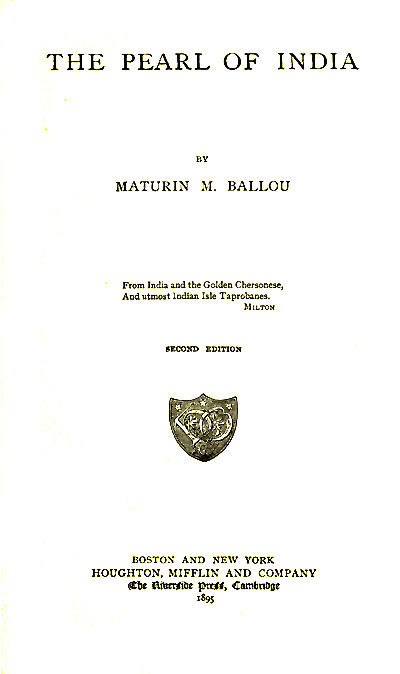 The project gutenberg ebook of the pearl of india by maturin m ballou ebook the pearl of india produced by sankar viswanathan julia miller and the online distributed proofreading team at httppgdp this fandeluxe Images
