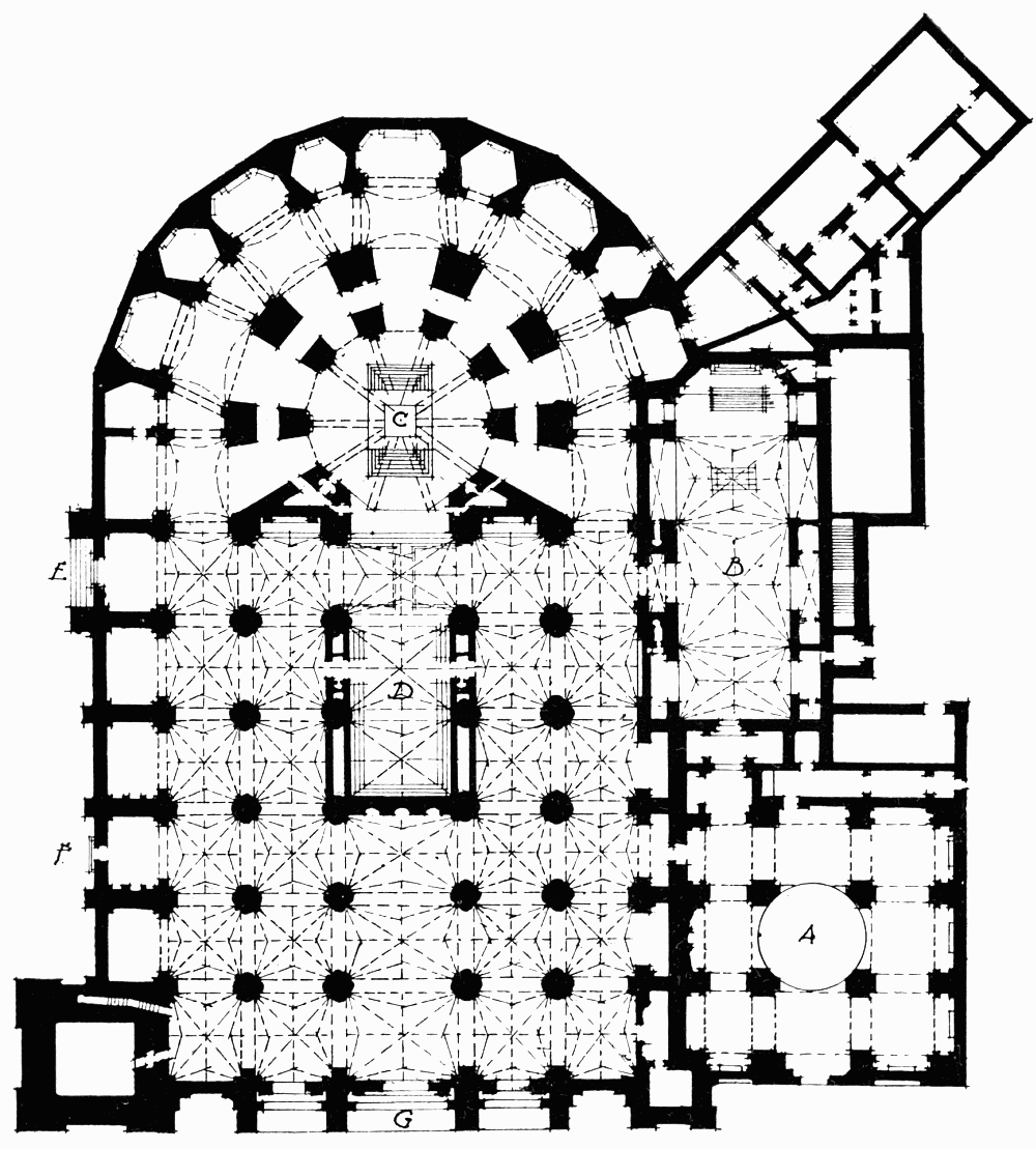 the project gutenberg ebook of cathedrals of spain by john a john Chartres Cathedral Stained Glass key of plan of granada cathedral