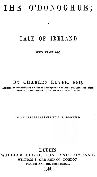 The O'Donoghue, by Charles Lever