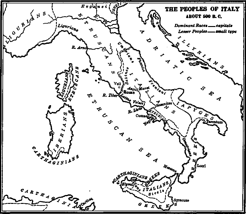 The Peoples Of Italy About 500 B C