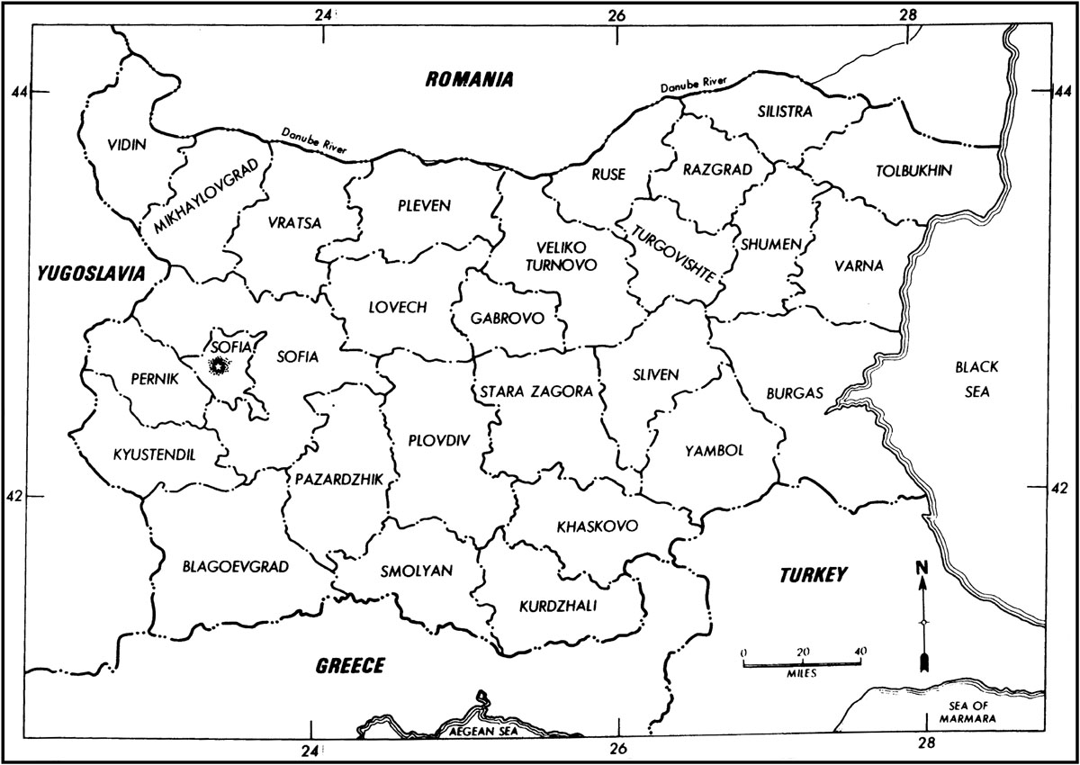 The project gutenberg ebook of area handbook for bulgaria by eugene political subdivisions of bulgaria 1973 fandeluxe Choice Image