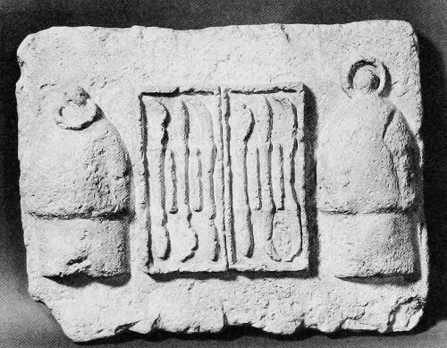 The project gutenberg ebook of bloodletting instruments in the replica of a greek votive tablet found in the remains of the temple of aesculapius pictured are two metal cups and a set of scalpels fandeluxe Gallery