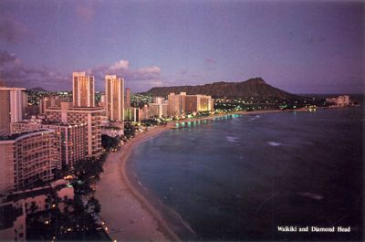 'Waikiki and Diamond Head' from the web at 'http://www.gutenberg.org/files/33355/33355-h/images/illus-018.jpg'