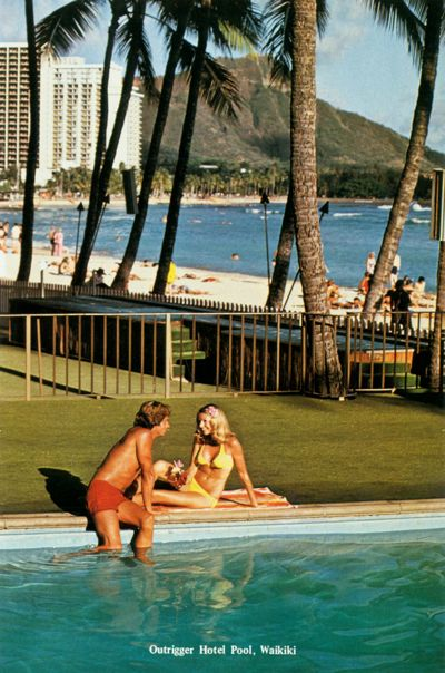 'Outrigger Hotel Pool, Waikiki' from the web at 'http://www.gutenberg.org/files/33355/33355-h/images/illus-020.jpg'