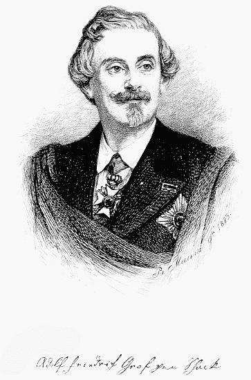 retrato de Adolf Friedrich Graf von Schack