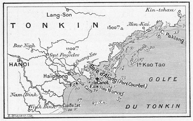 Carte De La Baie DAlong Croix Indique Les Parages Ou Sest Echoue Le Sully