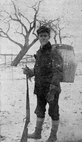 NORTHERN TRAPPER WITH PACK BASKET.
