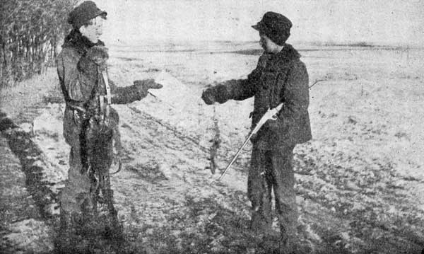 YOUNG TRAPPERS DISCUSSING SCENT.