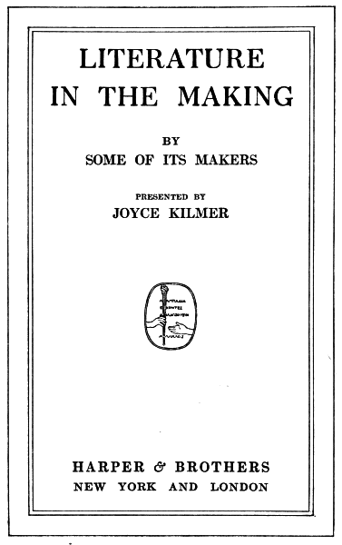 The Project Gutenberg Ebook Of Literature In The Making By Joyce