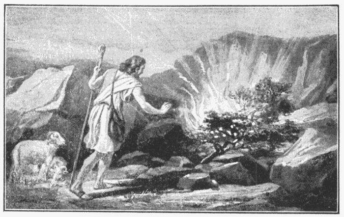 Moses At The Burning Bush Place Whereon Thou Standest Is Holy Ground Ex 35