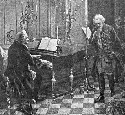 BACH PLAYING BEFORE FREDERICK THE GREAT.