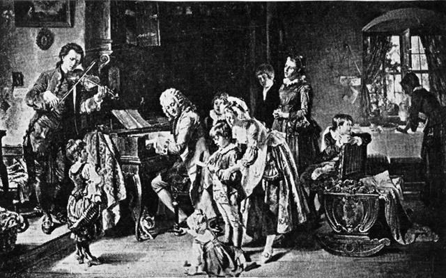 MORNING PRAYERS IN THE HOME OF JOHANN SEBASTIAN BACH.
