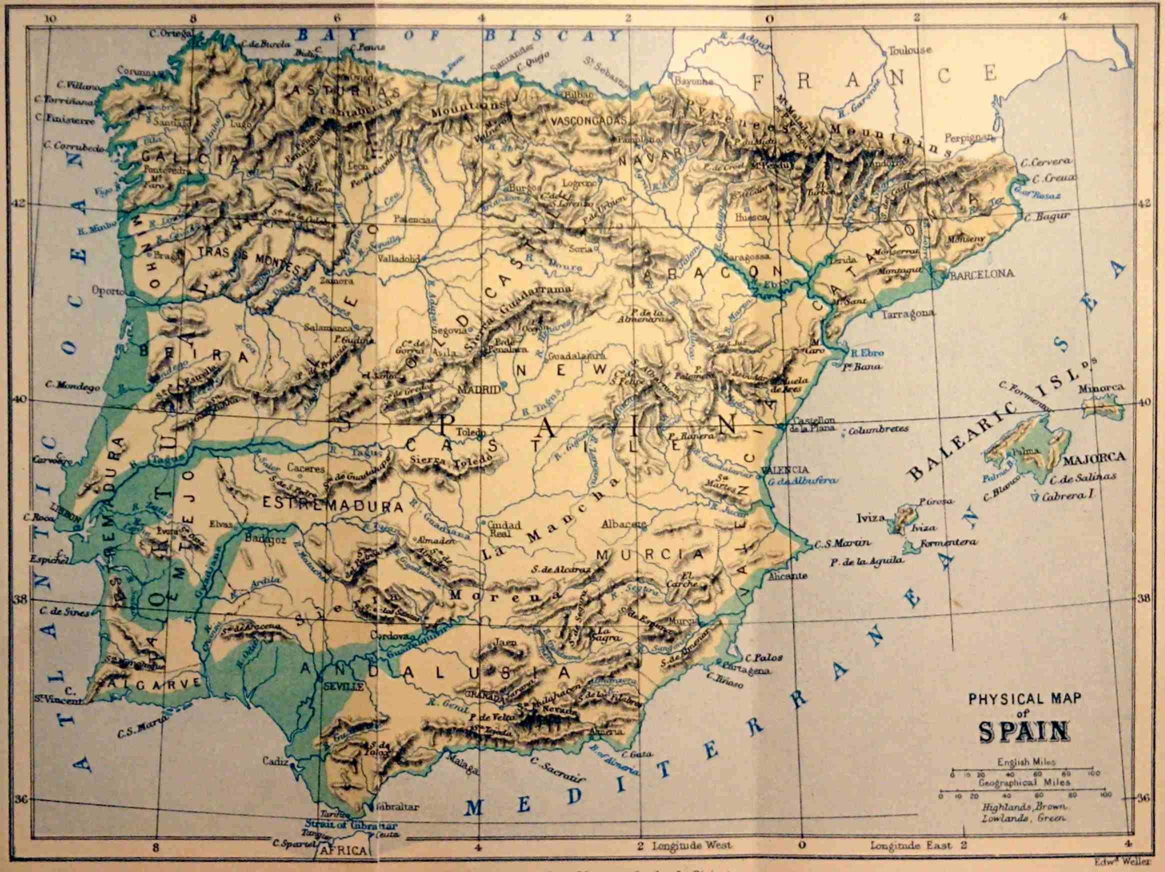 Rio Tambre Mapa Fisico.The Project Gutenberg Ebook Of Spain By Wentworth Webster