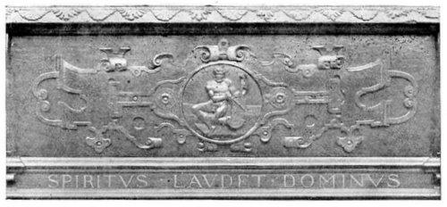 Portion of Carved Walnut Virginal.