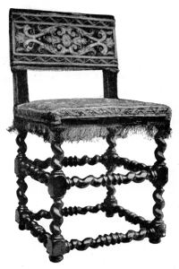 Italian Chair about 1620.