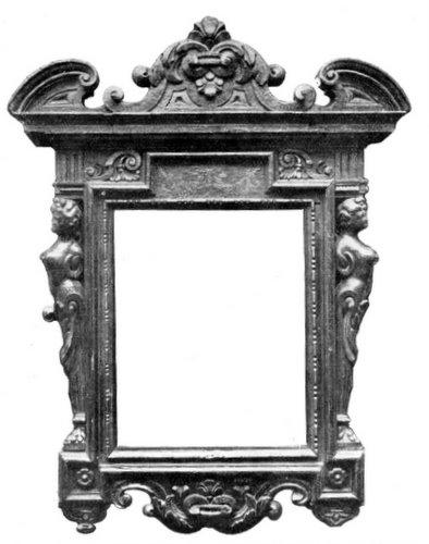 Frame of wood.