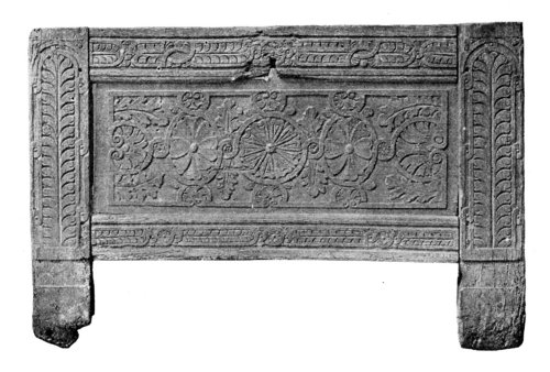 FRENCH CARVED OAK COFFER.