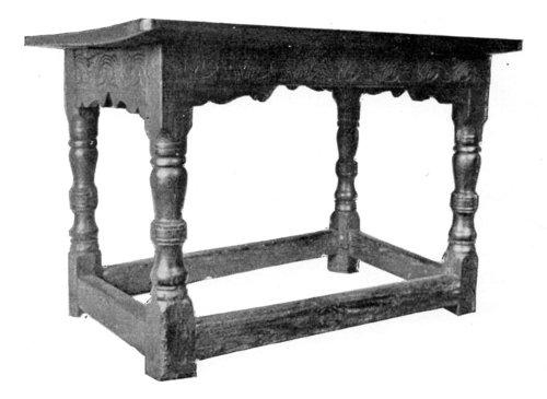 ELIZABETHAN OAK TABLE.