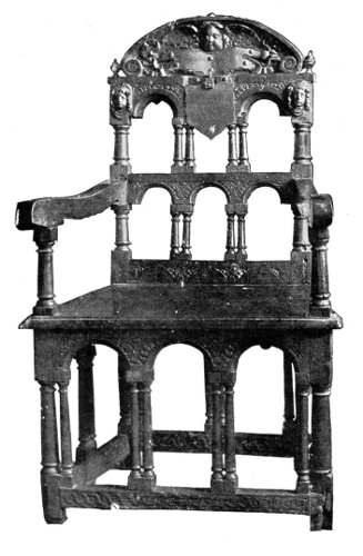 OAK CHAIR MADE FROM THE TIMBER OF THE GOLDEN HIND.