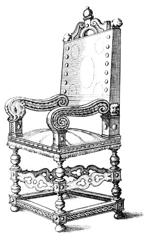 CHAIR OF PERIOD OF LOUIS XIII.