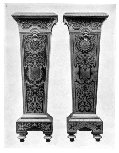 PEDESTALS SHOWING BOULE AND COUNTER-BOULE WORK.