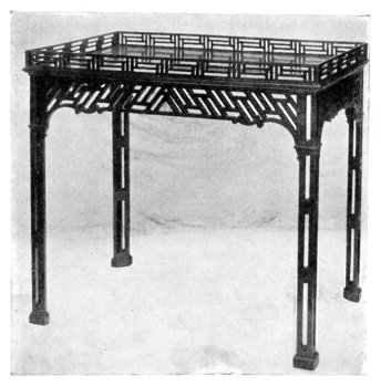 TABLE MADE BY CHIPPENDALE.