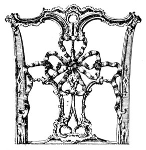 RIBBON PATTERN. CHIPPENDALE CHAIR-BACK.