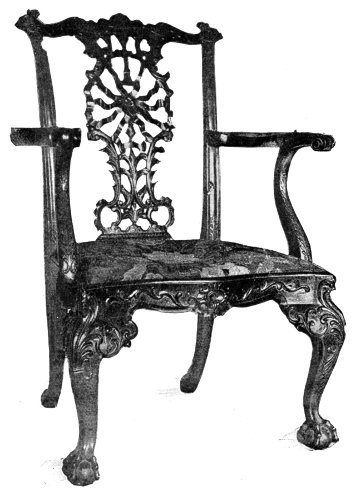 RIBBON-BACKED CHIPPENDALE CHAIR.